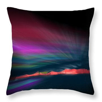 Snowfence Borealis Throw Pillow
