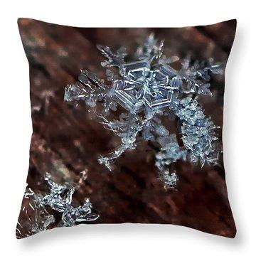 Snowflake Throw Pillow by Suzanne Stout