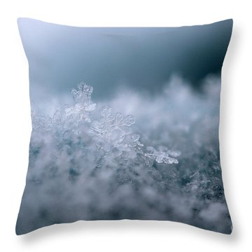 Snowflake Symphony Throw Pillow