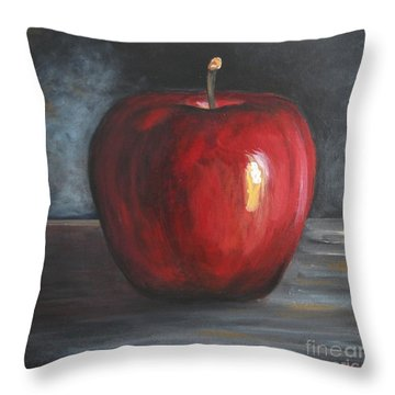 Snowhite Apple Throw Pillow