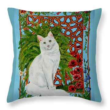 Snowi's Garden Throw Pillow