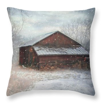 Snowland Throw Pillow by Mary Timman