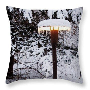 Snowlight Throw Pillow by Avis  Noelle
