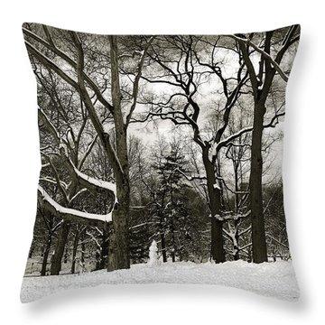 Snowman Throw Pillow by Madeline Ellis
