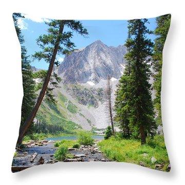 Snowmass Peak Landscape Throw Pillow