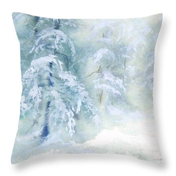 Snowstorm Throw Pillow by Joy Nichols