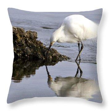 Snowy Ballet Throw Pillow