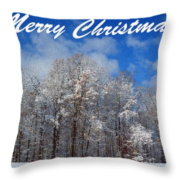Snowy Christmas Throw Pillow by Lorna Rogers Photography