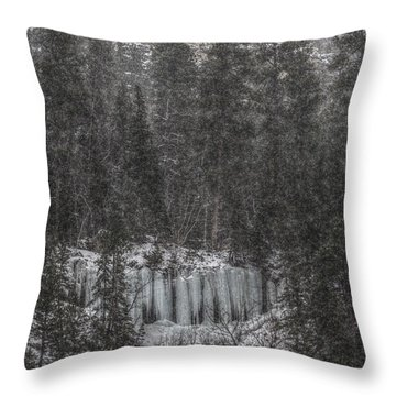 The Snowy Cliffs Of Spearfish Canyon South Dakota Throw Pillow