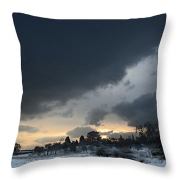 Snowy Dawn Throw Pillow