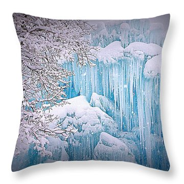 Snowy Ice Castle Throw Pillow by Matt Helm