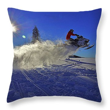 Snowy Launch Throw Pillow by Matt Helm