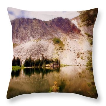 Snowy Mountains Loop 2 Throw Pillow by Marty Koch