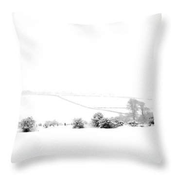 Throw Pillow featuring the photograph Snowy Panorama by Liz Leyden