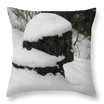 Snowy Profile Throw Pillow by Leone Lund