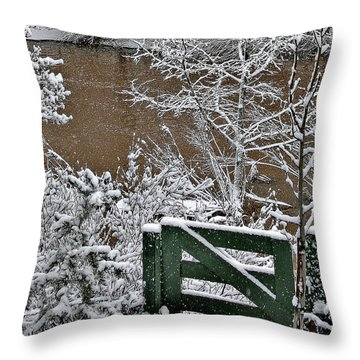 Snowy River Gate Throw Pillow