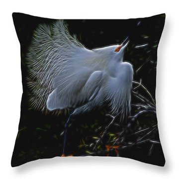 Throw Pillow featuring the digital art Wild Light 1 by William Horden