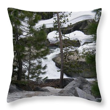 Throw Pillow featuring the photograph Snowy Sierras by Bobbee Rickard