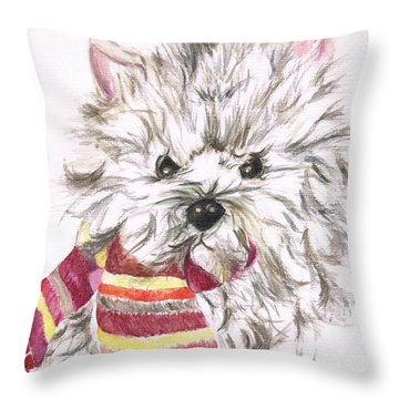 Snowy  Throw Pillow by Teresa White