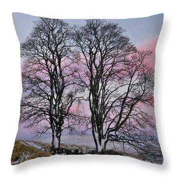 Snowy Winter Treescape Throw Pillow