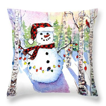 Snowy Wishes Throw Pillow
