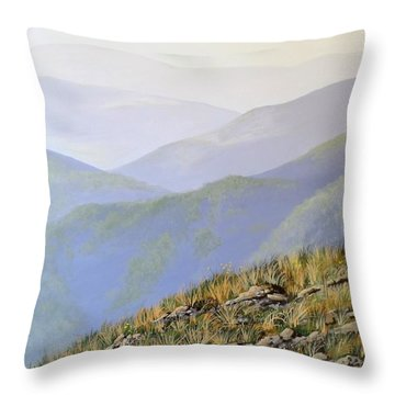 Snowy's In Summer Throw Pillow