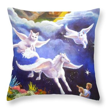 Snowy's Lament Throw Pillow by Timothy Tron