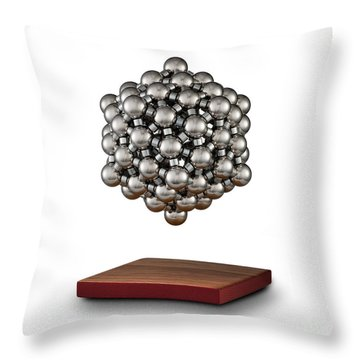 Snub Dodecahedron Throw Pillow by Raul Gonzalez