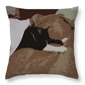 Snug As A Bug Throw Pillow