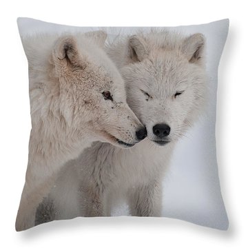 Throw Pillow featuring the photograph Snuggle Buddies by Bianca Nadeau