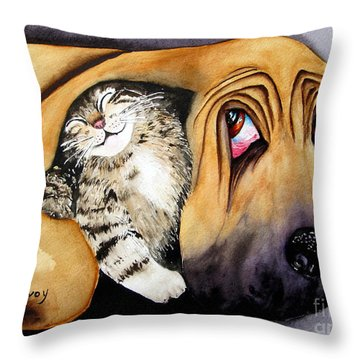 Snuggles Throw Pillow