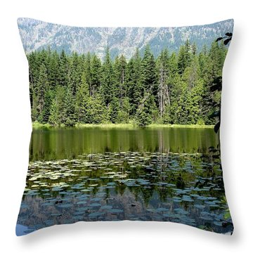 Throw Pillow featuring the photograph Snyder Lake Reflection by Kerri Mortenson