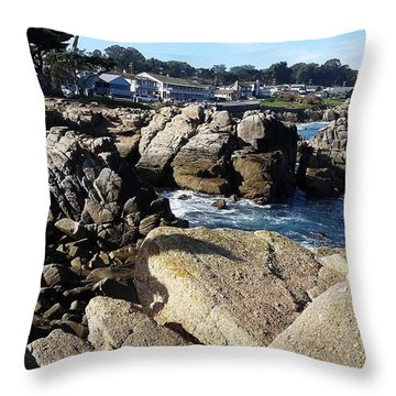 Lovers Point Monterey  Throw Pillow