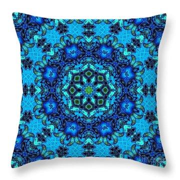 So Blue - 33 - Mandala Throw Pillow