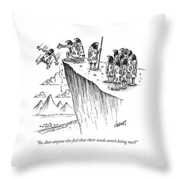 History Drawings Throw Pillows
