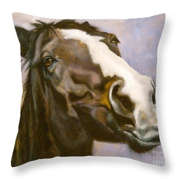 Hot To Trot Throw Pillow