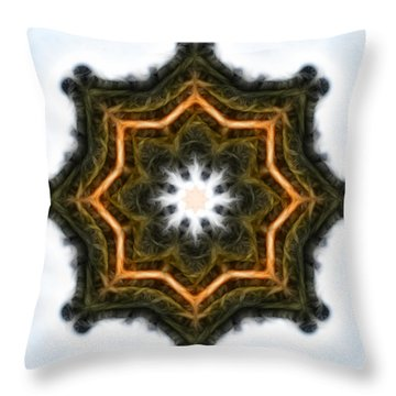 Throw Pillow featuring the photograph So Hum - I Am - Square by Beth Sawickie