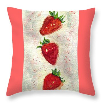 Throw Pillow featuring the painting So Juicy by Angela Davies