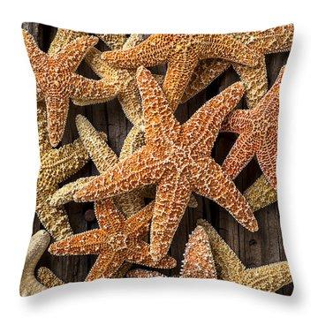 So Many Starfish Throw Pillow