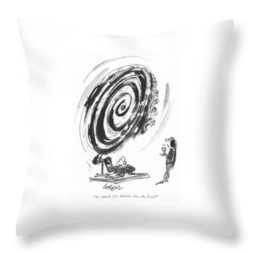 So Much For Kinetic Art Throw Pillow