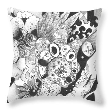 So Much Make Believe Throw Pillow by Helena Tiainen