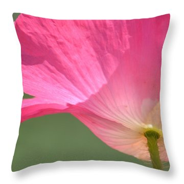 So Pretty Pink Poppy Throw Pillow