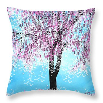 So Spring Throw Pillow by Kume Bryant