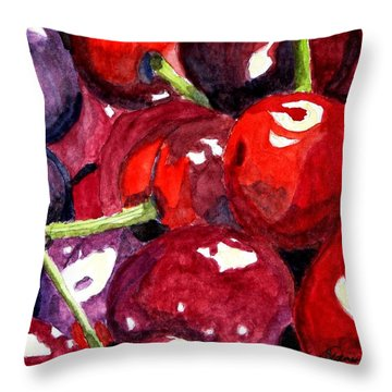 Throw Pillow featuring the painting So Sweet by Angela Davies
