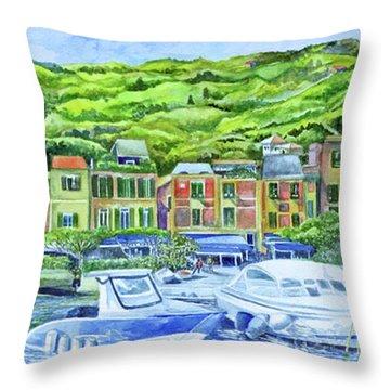 So This Is Portofino Throw Pillow