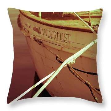 S.o. Wanderlust Altered Throw Pillow by Amanda Barcon