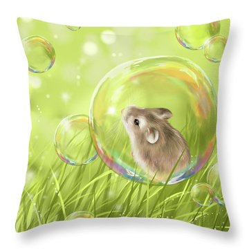 Soap Bubble Throw Pillow