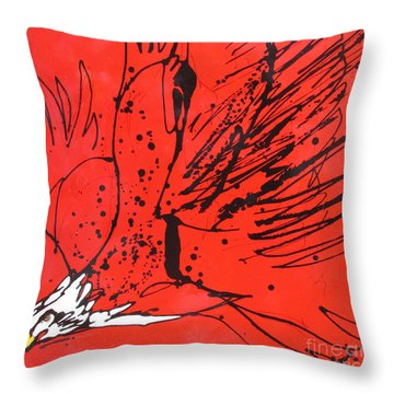 Throw Pillow featuring the painting Soar by Nicole Gaitan