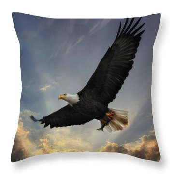 Soar To New Heights Throw Pillow by Lori Deiter