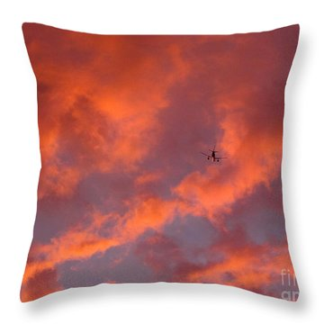 Soaring Hot Clouds Throw Pillow